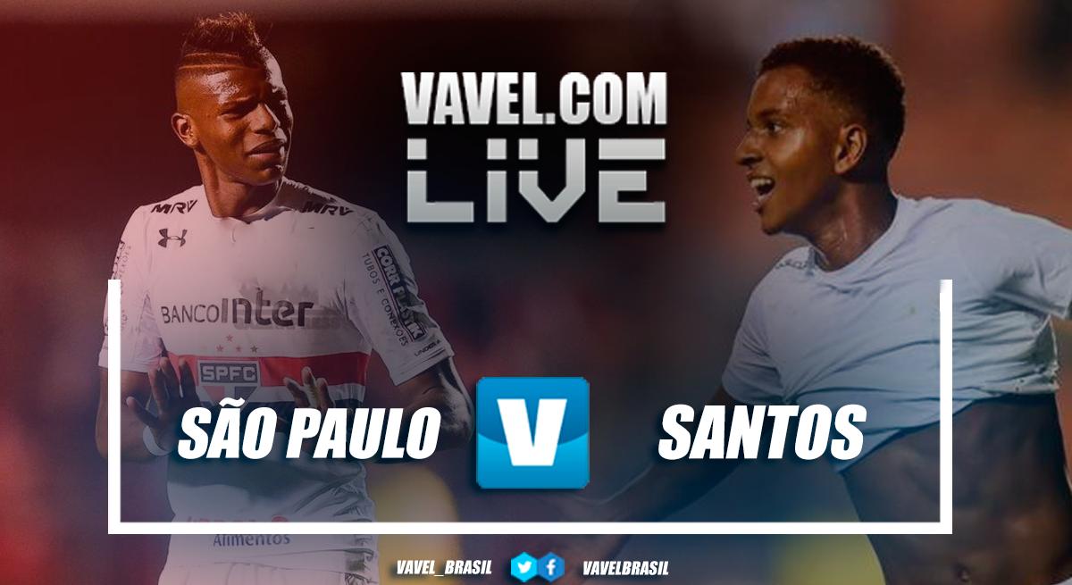Resultado e gols de São Paulo x Santos no Campeonato Brasileiro (1-0)