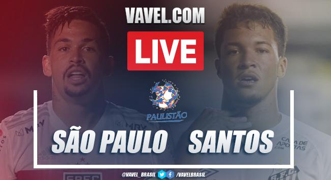 Gols e melhores momentos São Paulo 4 x 0 Santos pelo Campeonato Paulista