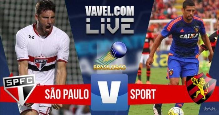 Resultado São Paulo x Sport na Série A do Campeonato Brasileiro (0-0)