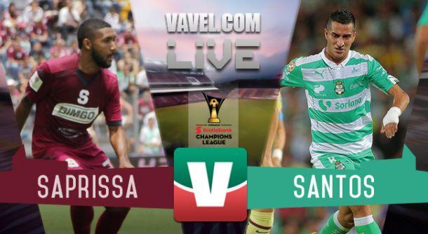 Resultado Santos - Saprissa en Concachampions 2015 (6-1)