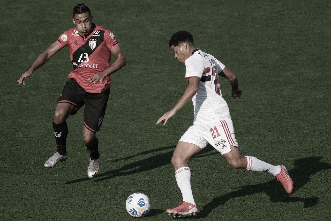 São Paulo sai das proximidades do Z-4 ao vencer o Atlético-GO no Morumbi