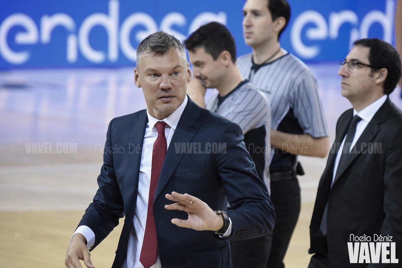 Jasikevičius, durante un partido de ACB 2020/2021 | Foto: Noelia Déniz - VAVEL