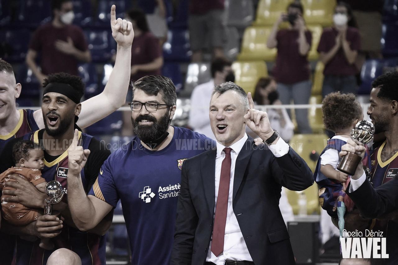"""Saras Jasikevicius: """"Muy contento por haber hecho 4 finales y 2 trofeos"""""""