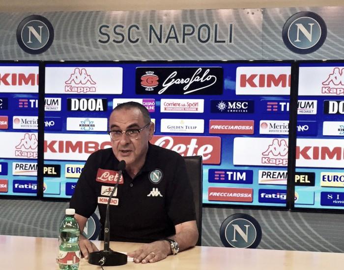 """Napoli, Sarri attacca: """"Di Higuain non parlo. Abbiamo aspettative alte per la stagione"""""""
