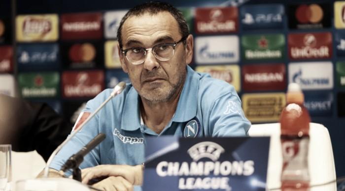 """Napoli, Sarri in conferenza: """"Attenzione al Benfica, anche il Bayern ha fatto fatica con loro"""""""