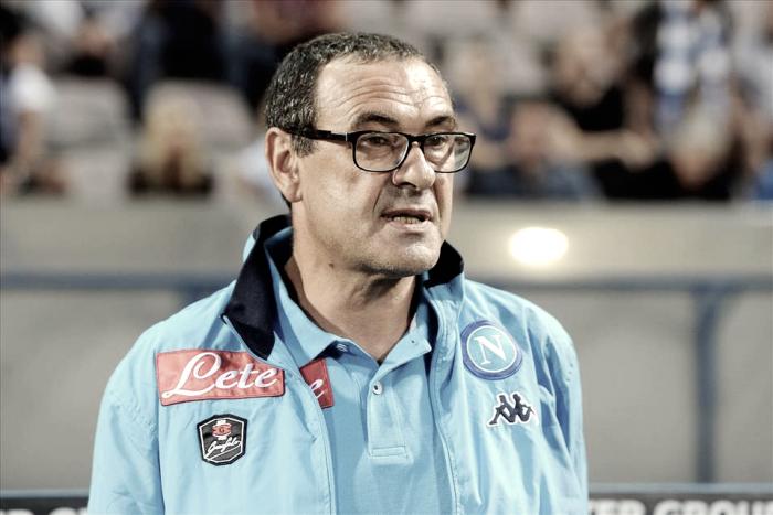 """Napoli, Sarri: """"Potevamo fare di più, a Napoli puntiamo al 2-0"""""""