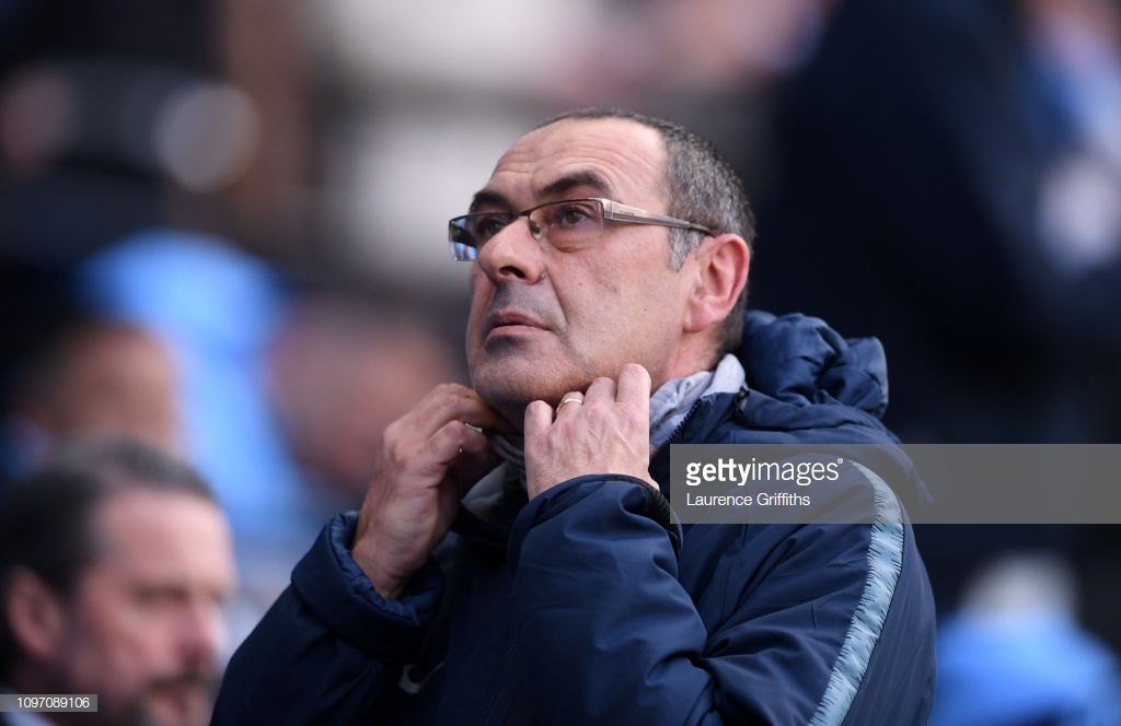 Maurizio Sarri admits his Chelsea job is 'always at risk' as coach sets abysmal club record at the Etihad