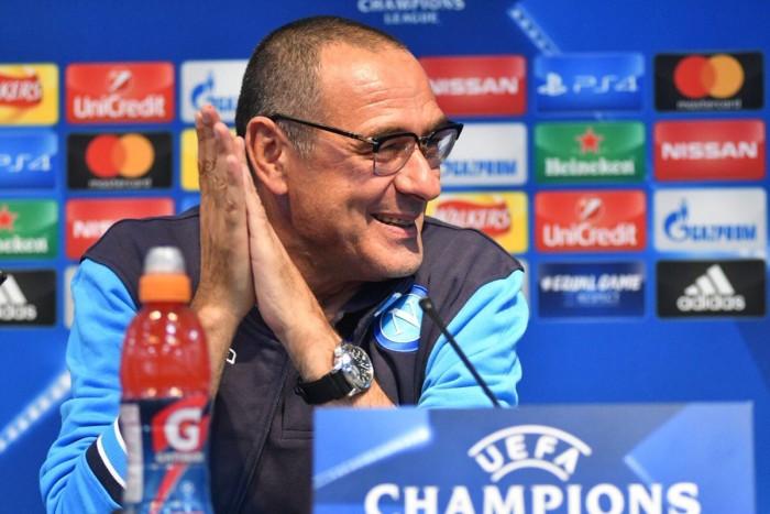 """Champions League - Napoli, Sarri: """"Chiedo ai miei timore, ma non paura. Guardiola il migliore al mondo"""""""