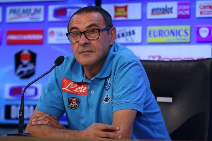 """Napoli-Empoli, Sarri: """"Non la prenderemo alla leggera, ci sarà da soffrire. Giampaolo straordinario"""""""