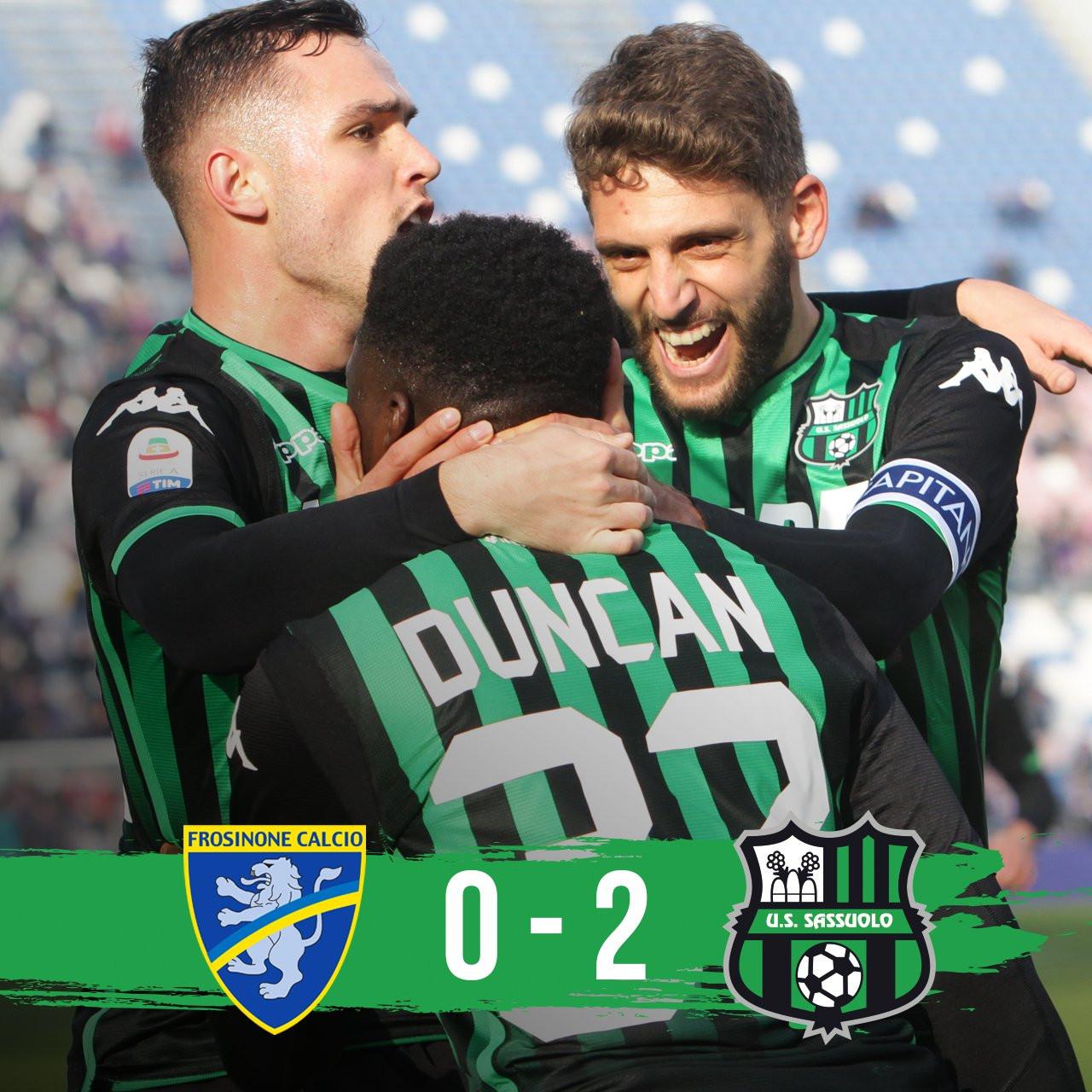 Il Sassuolo torna alla vittoria