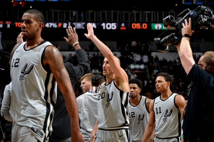 NBA - Spurs in volata sui Celtics: non basta Irving a Boston, decide Ginobili