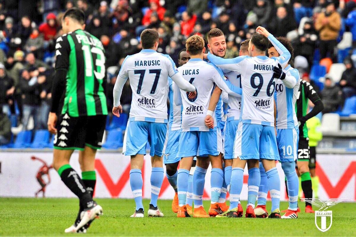 Serie A - Lazio travolgente, per il Sassuolo è notte fonda (0-3)