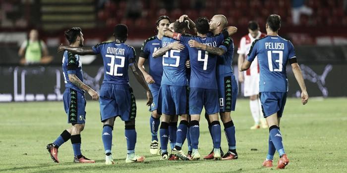 Sassuolo empata com Estrela Vermelha e se garante na fase de grupos da Europa League