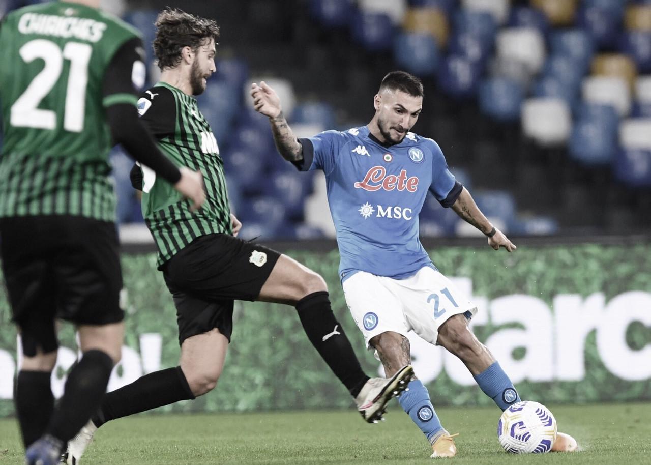 Sassuolo bate Napoli em confronto direto pelo topo, segue invicto e atinge vice-liderança