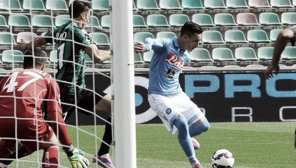 Diretta Napoli - Sassuolo, risultati live di Serie A (2-0)