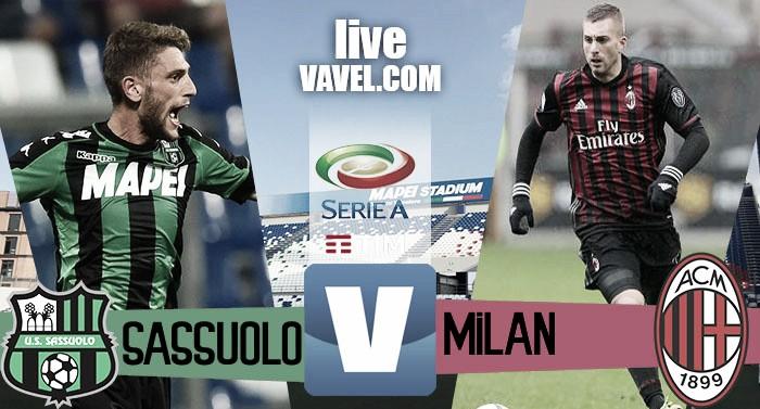 Risultato finale Sassuolo - Milan in Serie A 2016/17 (0-1): Bacca regala i tre punti ai rossoneri