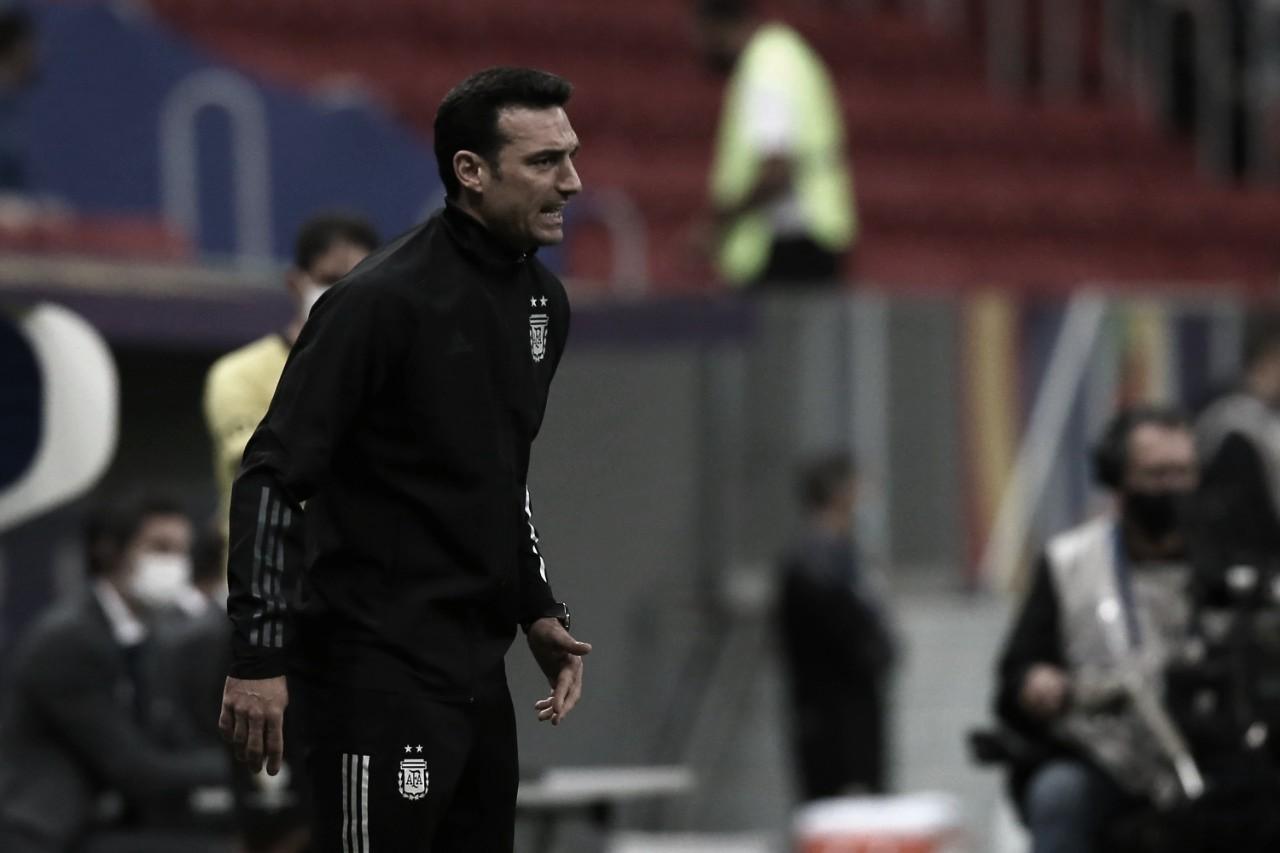 """Lionel Scaloni: """"Me preocupa el estado físico de los jugadores"""""""