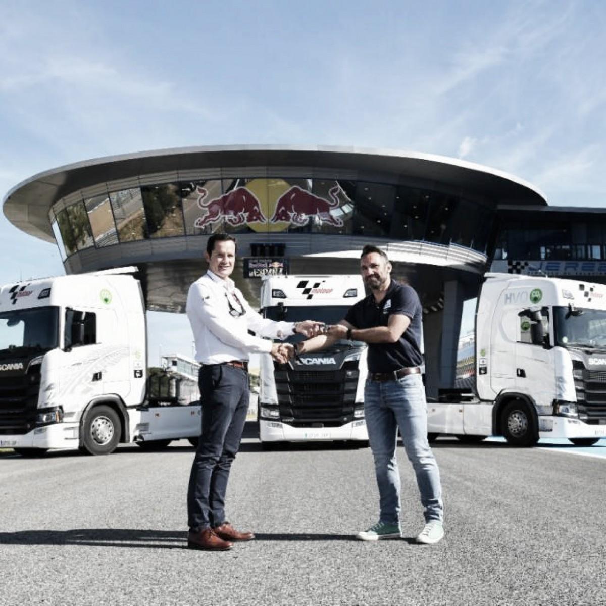 Scania y sus camiones más ecológicos dos años más en el mundial de MotoGP