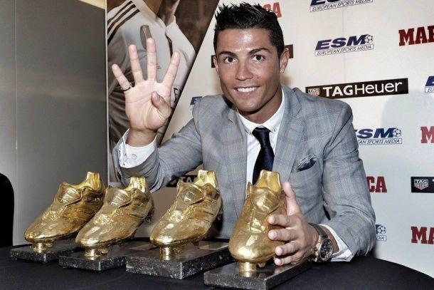 Cristiano Ronaldo, quarta scarpa d'Oro: è record