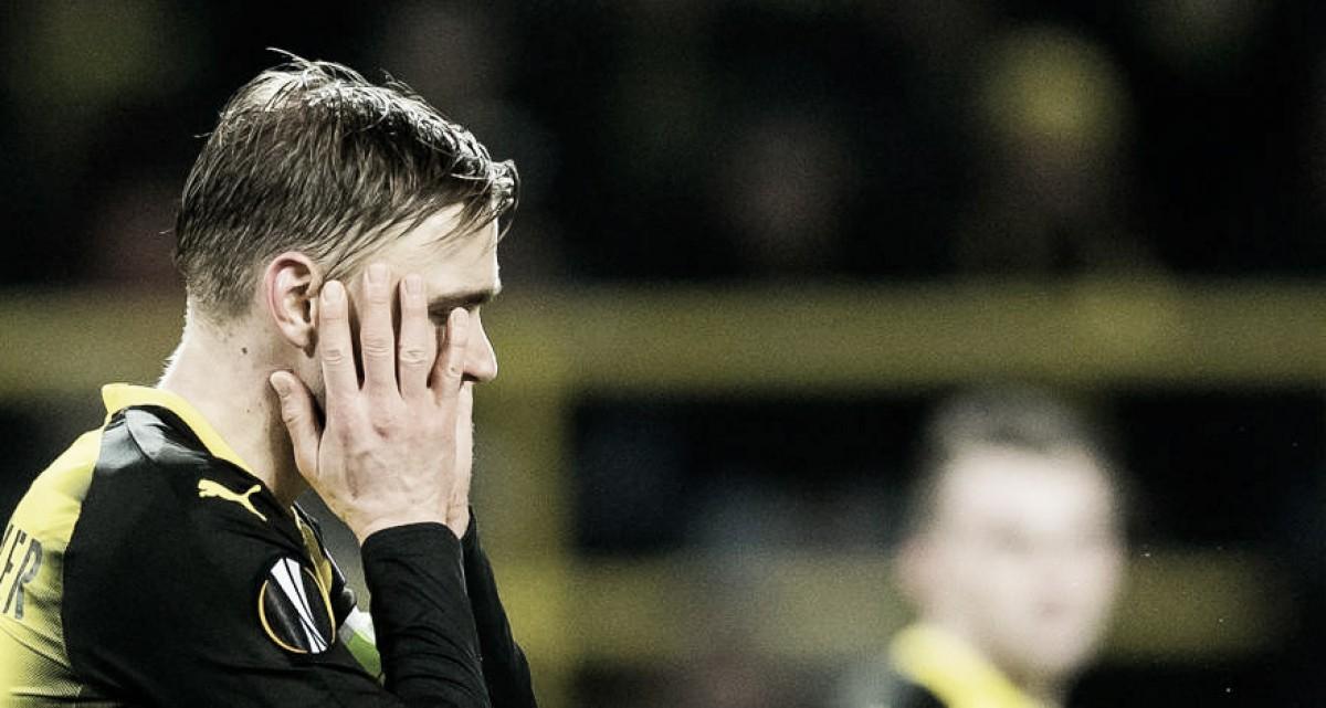 """Capitão do Dortmund, lateral Schmelzer lamenta atuação contra RB Salzburg: """"Merecemos perder"""""""
