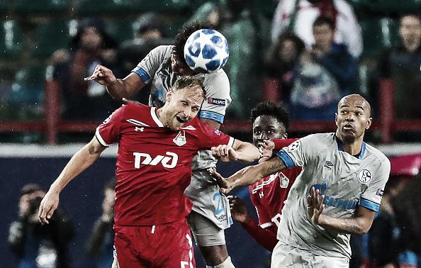 Schalke consegue vitória nos últimos minutos contra Lokomotiv Moscou