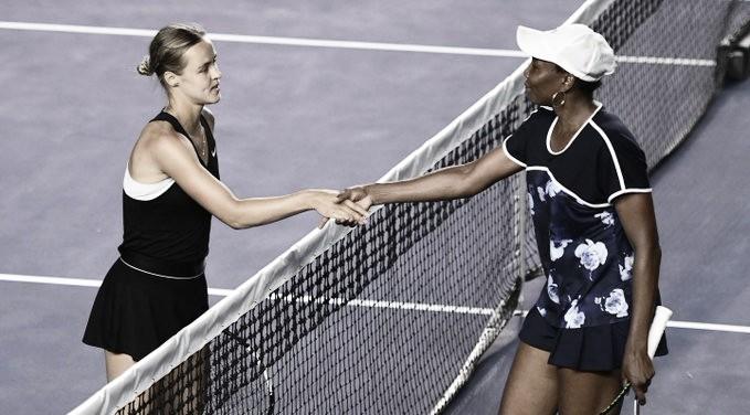 Venus perde de virada para Schmiedlova em Monterrey e chega a quinta derrota seguida