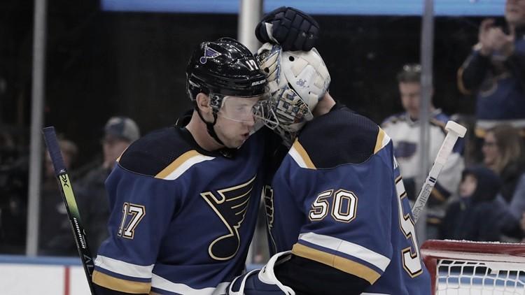 Schwartz y Binnington | Foto: NHL.com