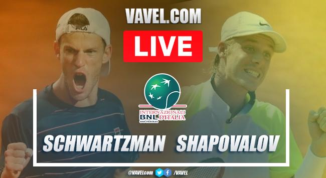 Schwartzman vs Shapovalov: resumen semifinal Roma Masters 2020