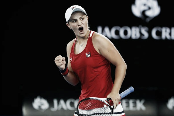Australian Open: Ashleigh Barty battles back to beat Camila Giorgi