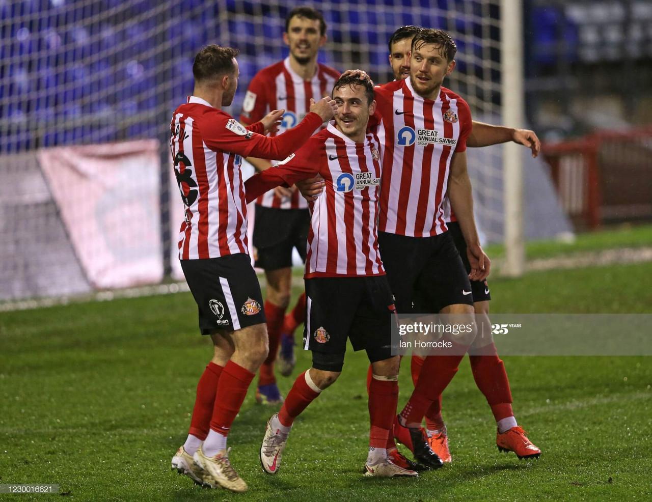 Oldham Athletic 1-2 Sunderland: Johnson gets first win as Sunderland manager