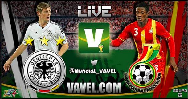 Live Germania - Ghana, Mondiali 2014 in diretta