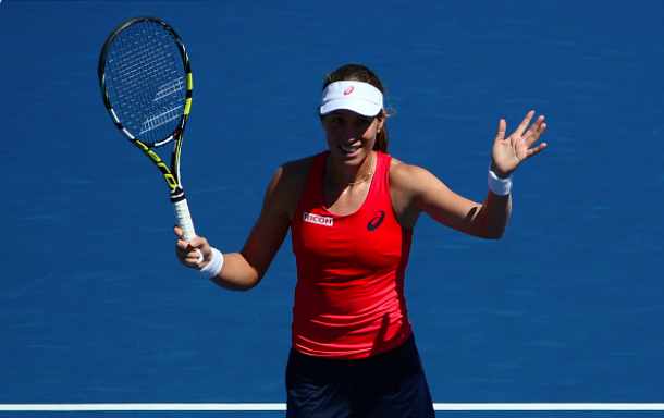 Jo Konta makes US Open history beating Garbine Muguruza in event's longest