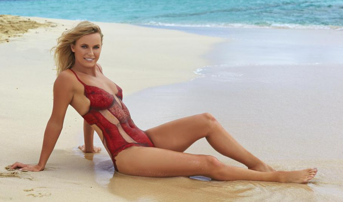 Caroline Wozniacki Stars In 2016 Sports Illustrated Swimsuit Edition In Body Paint