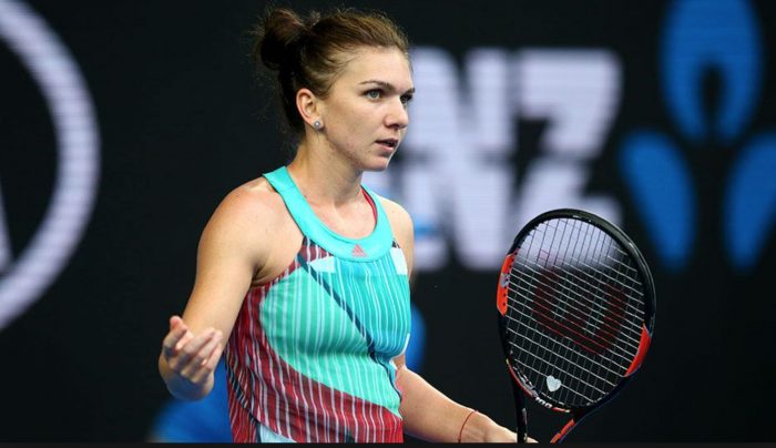 Simona Halep Training At Red Rock Country Club Alongside Tennis Legends Steffi Graf And Andre Agassi