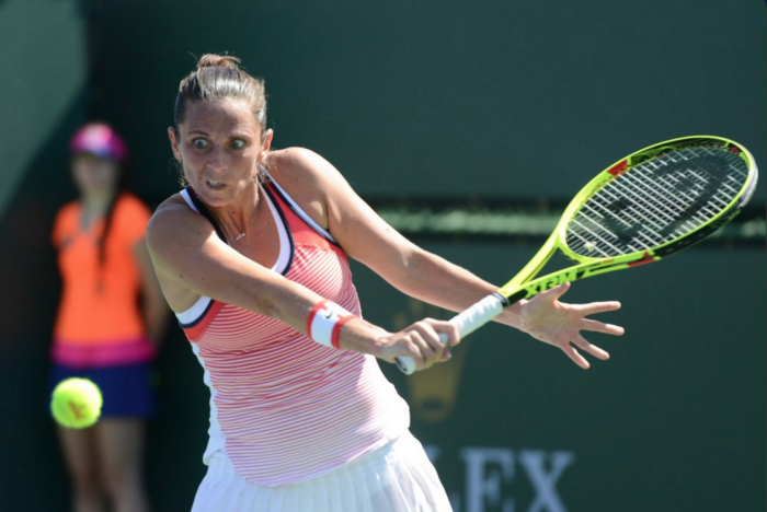 WTA Indian Wells: Roberta Vinci Saves Two Match Points To Edge Margarita Gasparyan In Thriller