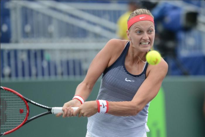 WTA Miami: Petra Kvitova Battles Past Irina Falconi In Miami Open Opener.