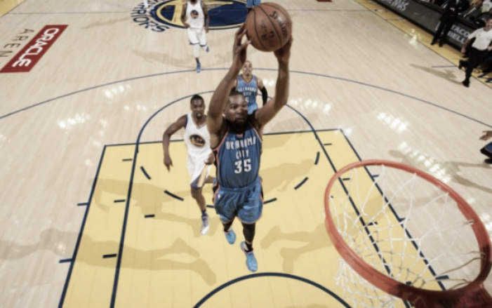 2016 NBA Western Conference Finals: Oklahoma City Thunder stun Golden State Warriors in Game One of the Western Conference Finals, 108-102