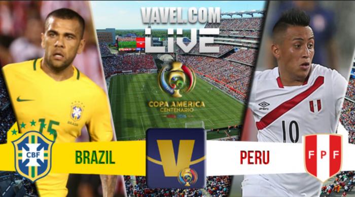 Score Brazil vs Peru in Copa America Centenario (0-1)