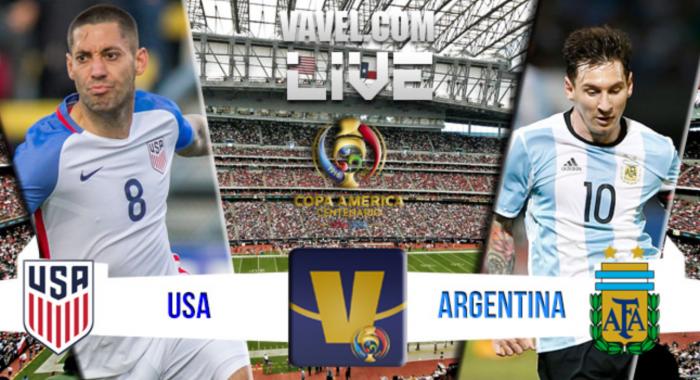 Score USA vs Argentina in Copa America Centenario Semifinal (0-4)