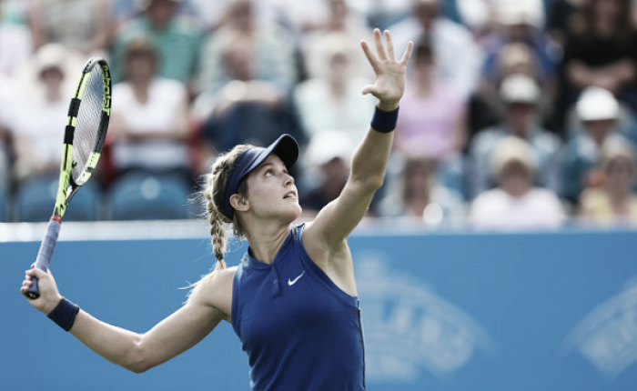 Eugenie Bouchard talks about her health and basketball