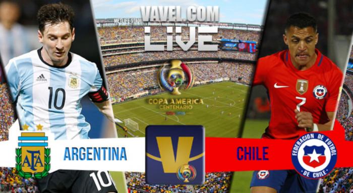 Argentina vs Chile Live Updates and Scores of Copa America Centenario Final (0-0)