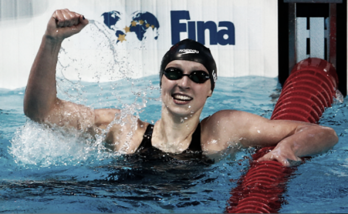 Ledecky wins 200-meter freestyle to clinch 2nd medal of Rio Olympics