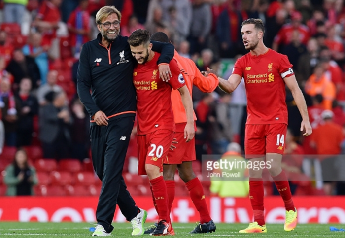 Liverpool duo Adam Lallana and Jürgen Klopp up for Premier League monthly awards