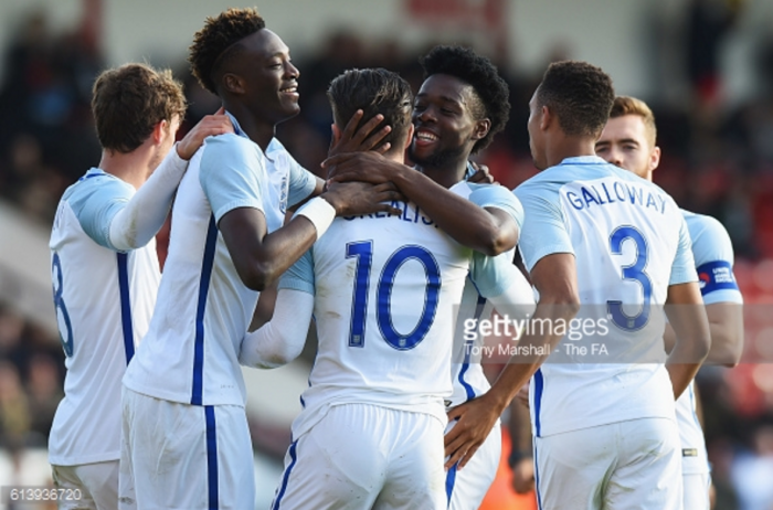 England U21s 5-0 Bosnia U21s: Abraham brace helps Young Lions end Euro qualifying campaign in style