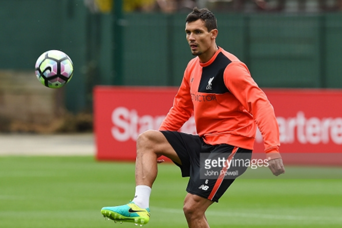 Dejan Lovren and Nathaniel Clyne back in Liverpool training prior to United clash