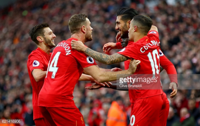 Liverpool 6-1 Watford: Ruthless Reds hit Hornets for six to move top of the Premier League table