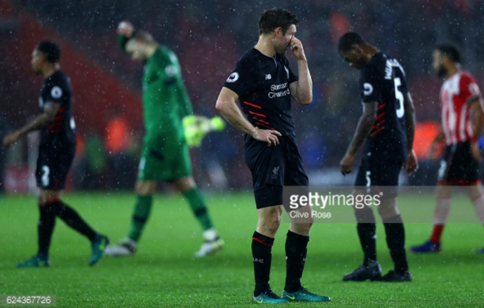 James Milner: Liverpool performance at Southampton wasn't off the pace, we just lacked final finishing touch