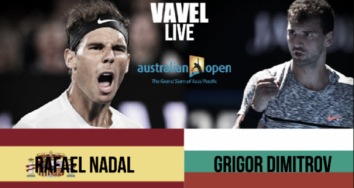 Score Rafael Nadal vs Grigor Dimitrov of the 2017 Australian Open Semifinal