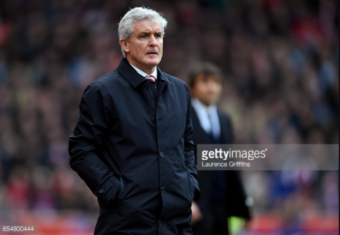 Mark Hughes says Stoke deserved more from late defeat at home to league leaders Chelsea
