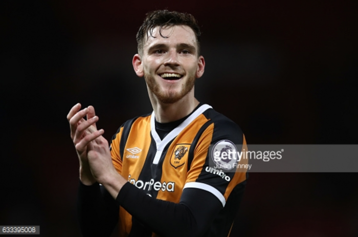 Liverpool interested in Hull City left-back Andrew Robertson with Alberto Moreno likely to leave